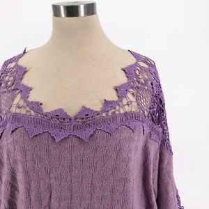 Free People Sweaters - Free People Love Lace Peasant Crochet Sweater S